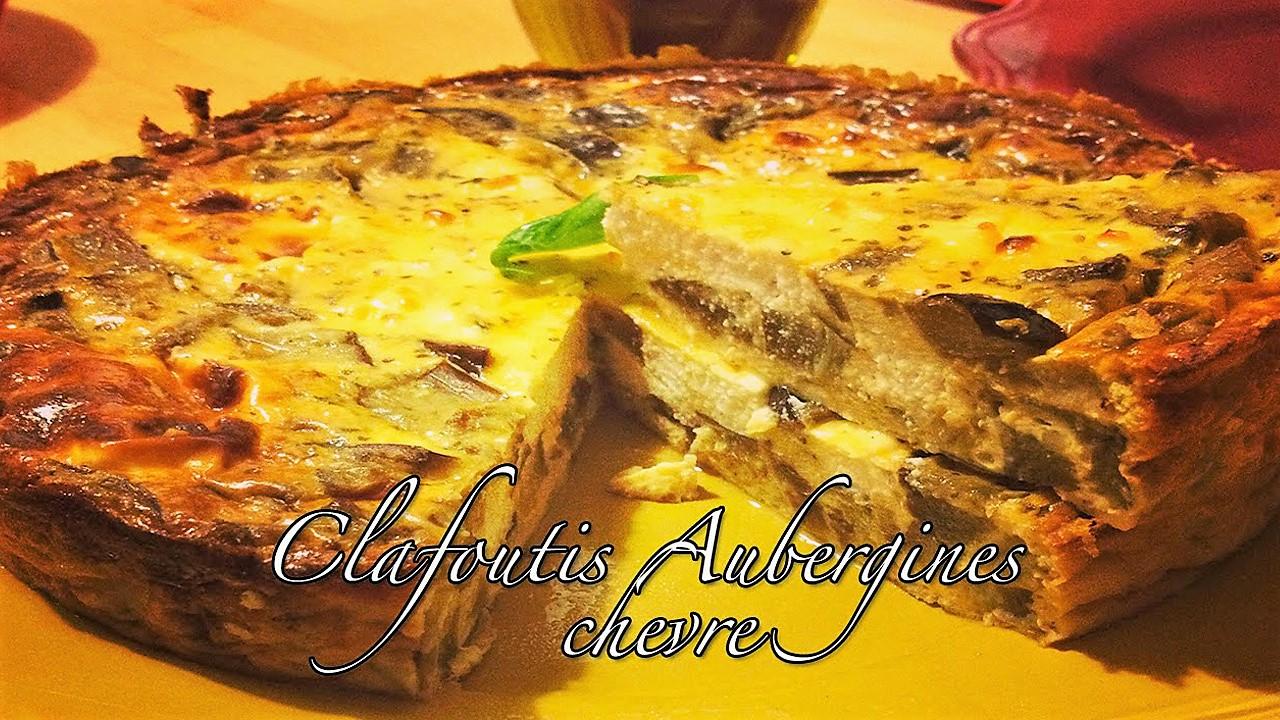 Clafoutis aux aubergines et au fromage de chèvre