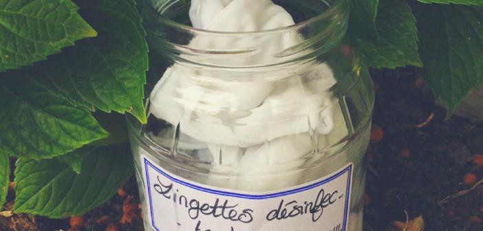 DIY lingettes désinfectantes 100% naturelles